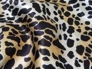 Cheetah Printed Crepe Satin 1809D1