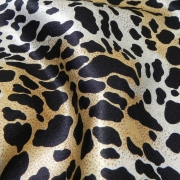 Cheetah Printed Satin Crepe 1809D1