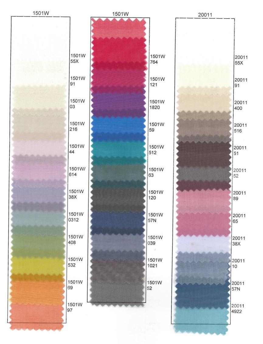 1501W Silk Organza & 20011 Italian Soft Organza -