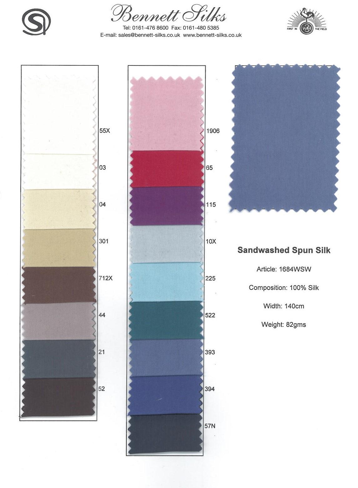 1684WSW Sandwashed Spun Silk -