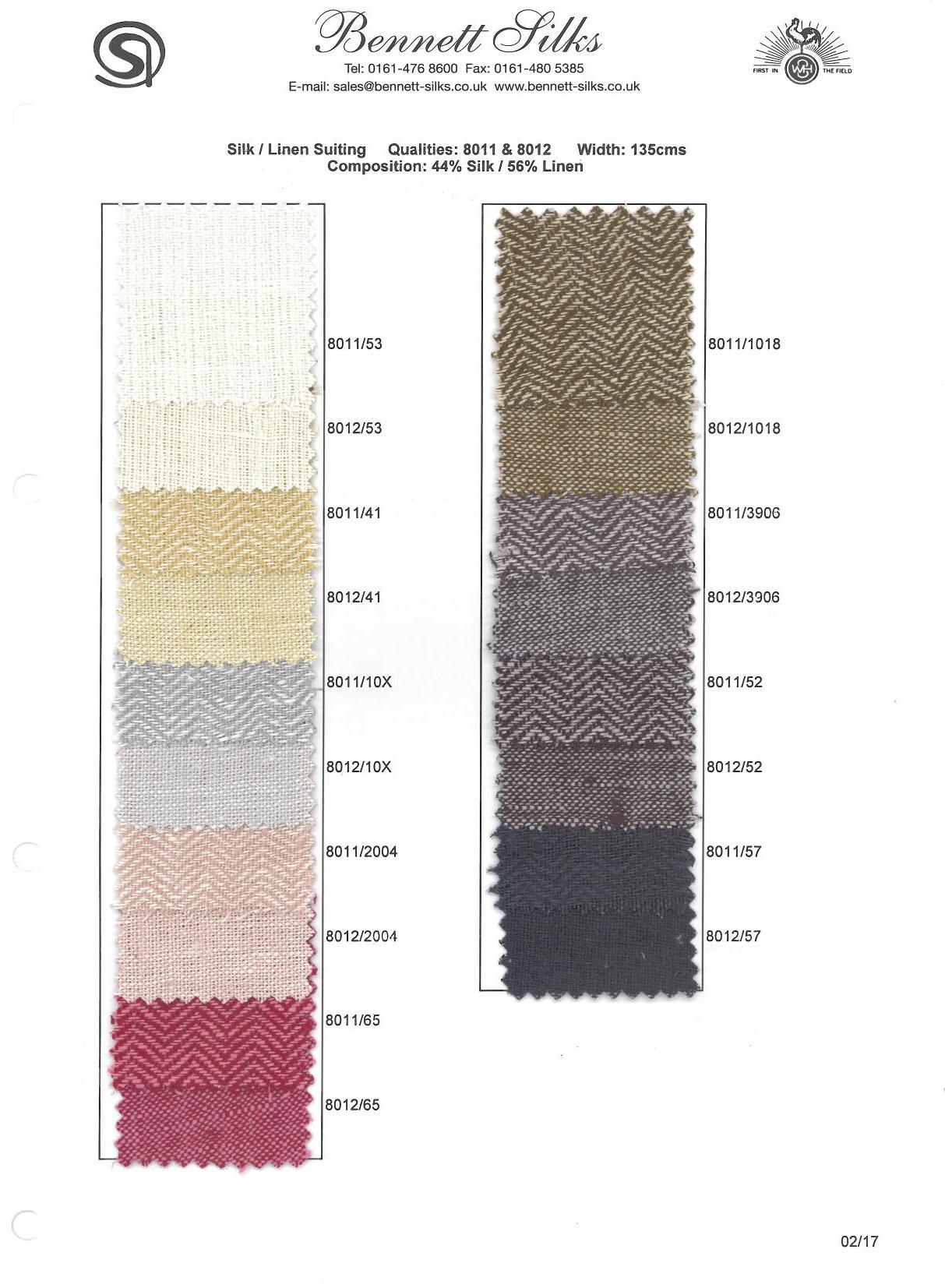 8011 & 8012 Silk Linen Suiting -